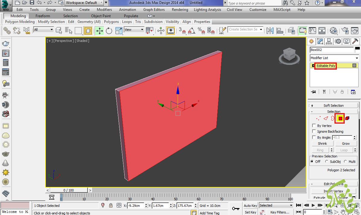 Editable poly در 3Dmax