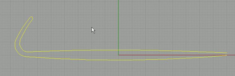 خطوط منحنی در Rhino
