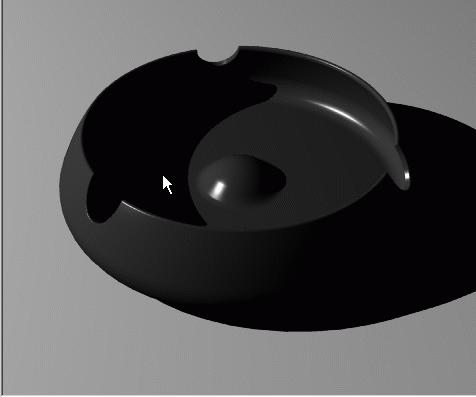 نور زیرسیگاری در Rhino