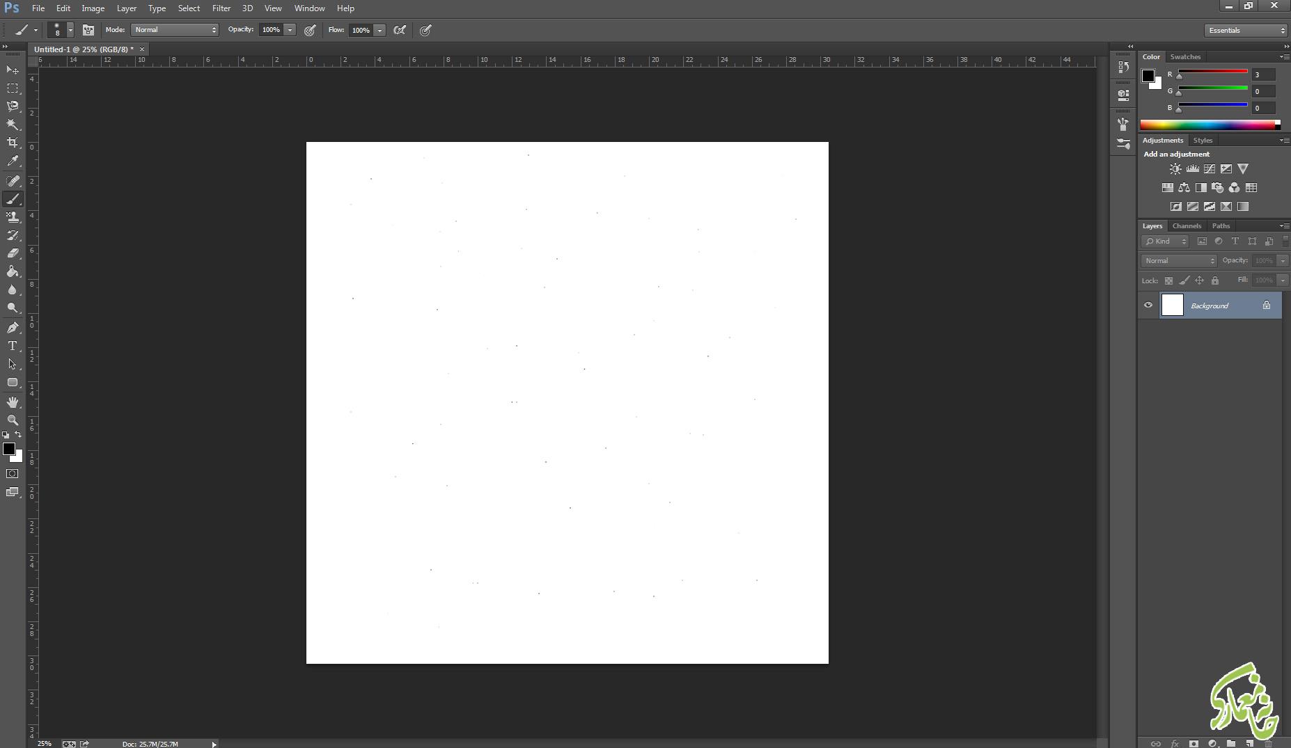 ایجاد کردن نقاط ستاره در photoshop