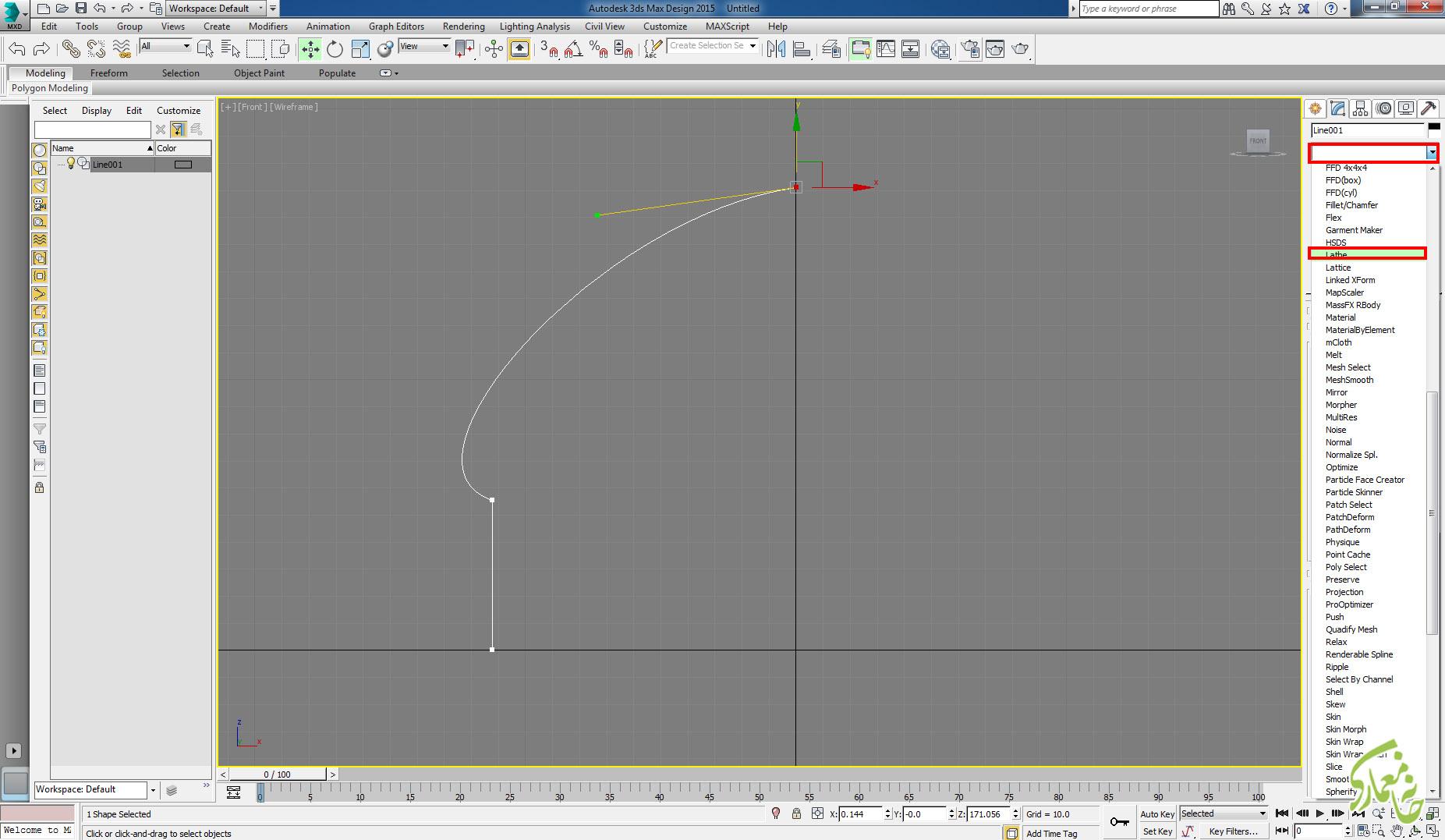 نسبت دادن ویرایشگر Lathe در 3Dmax