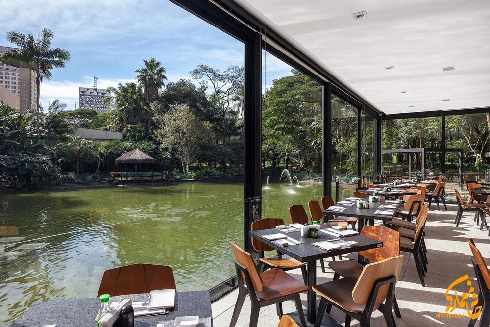 رستوران شیشه ای شناور ژاپنی