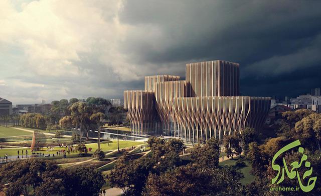 بنای بزرگداشت قربانیان نسل کشی کامبوج - زاها حدید