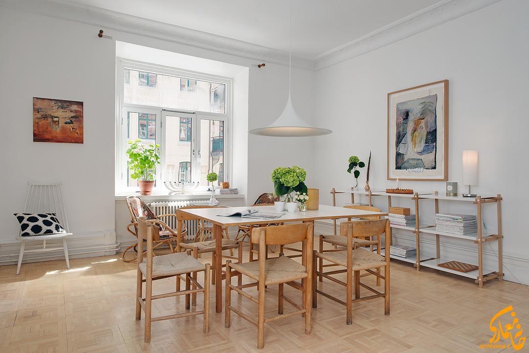 آپارتمان سوئدی با تراس دنج