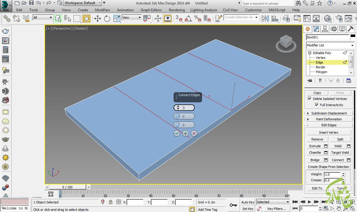 مکعب را تبدیل به Editable poly