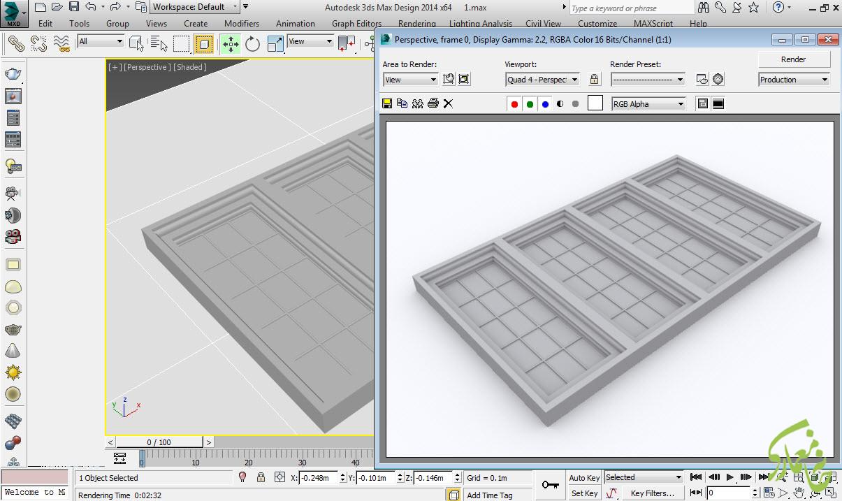 مدلسازی پنجره در تری دی مکس