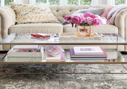 طراحی داخلی میز قهوه اتاق نشیمن