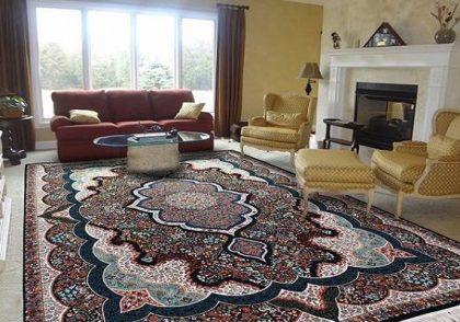 نکاتی برای ست کردن دکوراسیون خانه با فرش سرمه ای
