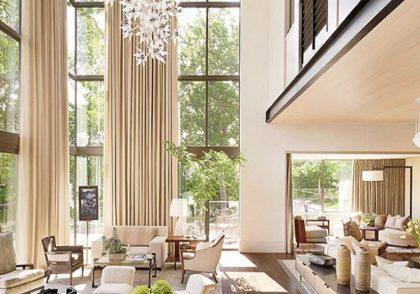 طراحی داخلی منازل با سقف بلند