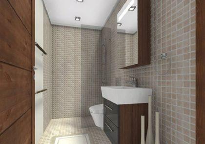 طراحی داخلی حمام های کوچک