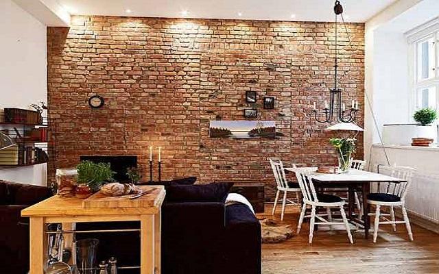 دیوارپوش آجری در طراحی داخلی