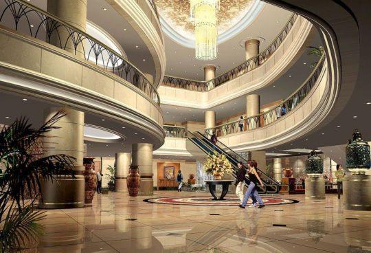 پروژه معماری طراحی هتل به شکل دایره