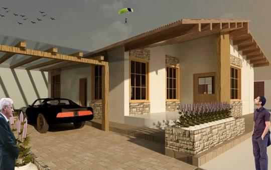 طراحی خانه موسیقی و رندرهای سه بعدی آن