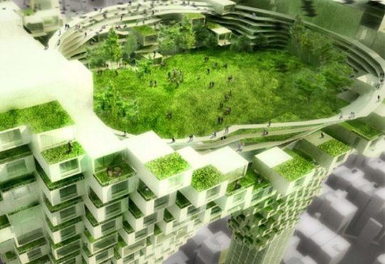 طراحی مجتمع تجاری تفریحی دوستدار طبیعت