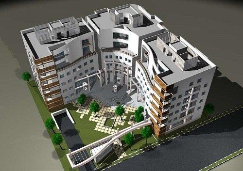 پروژه کامل طراحی مجتمع مسکونی