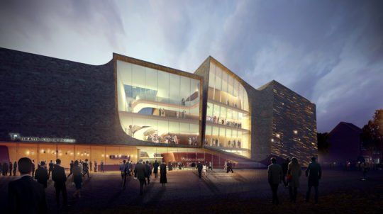 پروژه کامل معماری طراحی تئاتر شهر