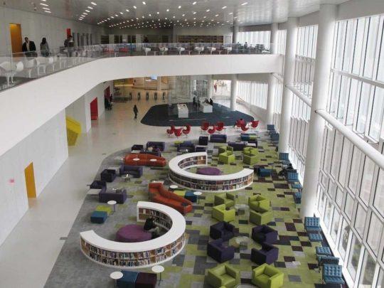 مطالعات معماری طراحی کتابخانه