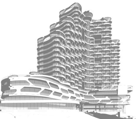 طراحی معماری هتل ۵ ستاره 30 طبقه