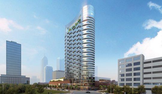 پروژه طراحی برج تجاری 17 طبقه