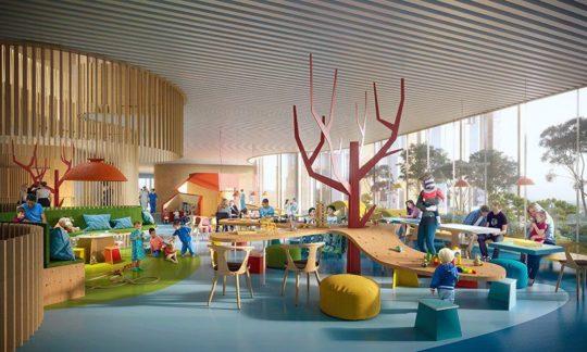 مطالعات طراحی معماری مرکز خلاقیت کودکان