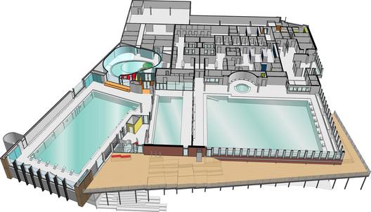 پروژه طراحی معماری استخر سرپوشیده