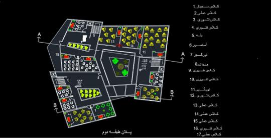طراحی پلان دانشکده هنرهای کاربردی